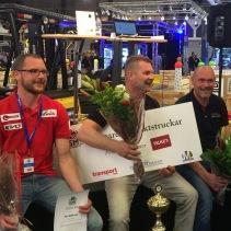 Vinnare motviktstruck: Jimmy Sol, 2:a Ken Wetterlund, 3:a Janne Morell